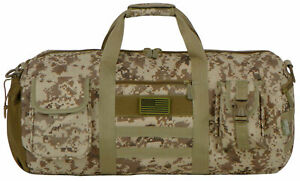 East West USA Tactical Molle Military Round Duffel Bag RTDC703M TAN ACU