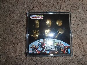 AVENGERS PEWTER PIN SET marvel NEW YORK COMIC CON EXCLUSIVE 2014 limited to 300