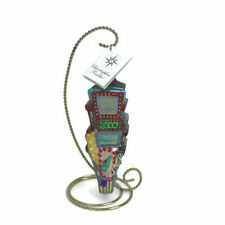 1999 Christopher Radko Ornament Times Square Years 2000 Tag