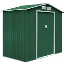 Box casetta garden cottage arredo giardino esterno in lamiera verde 277x202 casa