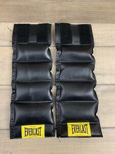 Vintage Everlast Black Leather Ankle Wrist Weights 2.5lb Each (5lb Total) 7014