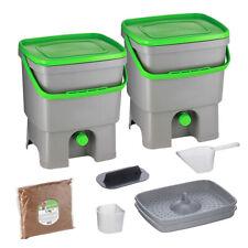Skaza Bokashi Organko Set (2 x 16 L) 2 Kompostbehältern mit 1 kg EM Ferment