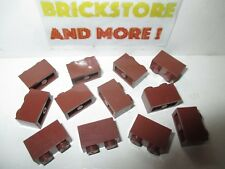 Lego - 12x brique brick 2x1 1x2 3004 reddish brown/marron/braun