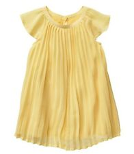 New babyGap gap Pleated cap-sleeve dress yellow 12-18m girls