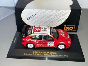 RALLY 1/43 IXO TOTAL CITROEN XSARA WRC #21 SEBASTIEN LOEB GERMANY 2002 LIMITED