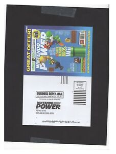 Super Mario Wii Nintendo Power Card INSERT ONLY Authentic