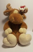 vintage plush commonwealth stuffed animal 16 Moose Mouse attached on Antlers P4