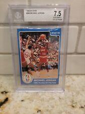 1984-85 Star Basketball Michael Jordan ROOKIE RC #288 BGS 7.5 NRMT+ 🔥 L@@K!