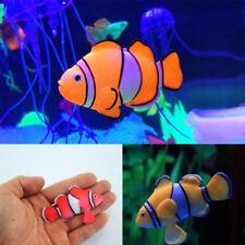 Poisson-clown Artificiel Déplace Fluorescent Jouet Plastique Aquarium Bocal Déco