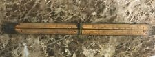 Antique Wood & Brass Folding 2 Foot Stanley USA Ruler