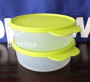 Tupperware Big Wonders Bowl 3 cup / 700ml Set 2 Lime Green Seal New in Package