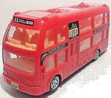 London Double Decker Tourist Bump & Go Red Bus-Sound &LED Light Souvenir Toy
