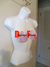 Halloween Decor Mannequin Form Female Durable Plastic Ready For Display - White