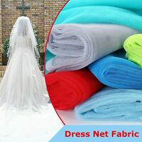 "DRESS NET FABRIC TULLE MESH DANCEWEAR 60"" STIFF BRIDAL DRESS GOWN TUTU PER METRE"