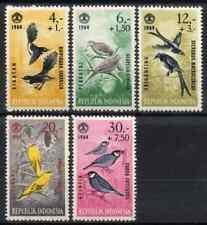 INDONESIA 1965 - SET BIRDS / SOCIAL DAY MNH