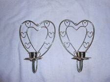 2 Home Interior Brass Heart Sconces