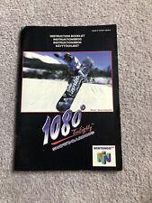 1080 snowboarding **Instruction Manual Only** Nintendo 64 N64