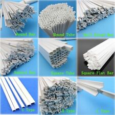 ABS Bar Tube Styrene Plastic Strip Round Square Flat U H L Type Rod Length 250mm