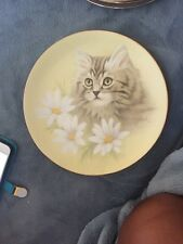 Hamilton Collection Spring Fever Petals And Purrs Collectors Plate