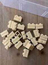 Lot of 23 New Lego Tan 1x2 Modified Bricks With Masonry Profile #98283 New Moc