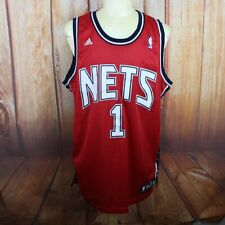 New Jersey Nets Adidas Jersey Men's XL Marcus Williams #1 Red Stitched
