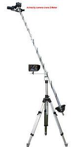 Camera Crane, Jib Arm 3 Meter Long for 14 Foot Height Footage on Standard Tripod
