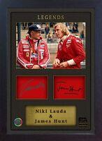 Niki Lauda James Hunt signed autograph Memorabilia Formula 1 Ferrari Framed
