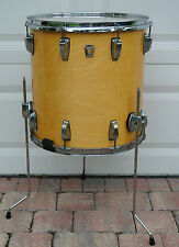"1990's LUDWIG 16"" CLASSIC NATURAL MAPLE BONHAM FLOOR TOM for YOUR DRUM SET! V486"