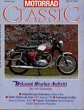 Motorrad Classic 4/91 1991 Adler M100 BSA A65 BSA B40 WD Military MV Agusta 350S