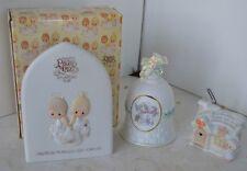 Precious Moments Porcelain Figure 1981-2000 Lot of 4 Bell Plaque