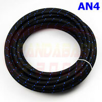 STEEL NYLON BRAIDED AN4 -4 04 4AN TRANSIMISSION OIL FUEL LINE GAS HOSE 3FOOT BL