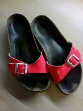 Ladies Birkenstock Neon Pink Buckle Sandals EU 38 UK 5 Width Unknown