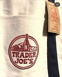 2 NEW Trader Joe's Reusable Canvas Eco Tote Bags (Heavy Duty)