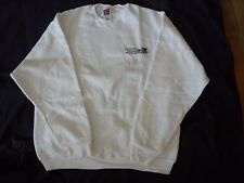 "NIKKEN ""WORLD HEADQUARTERS"" LOGO WHITE SWEATSHIRT - NEW - SIZE LARGE"