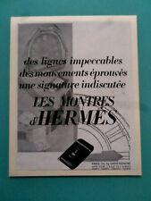 publicités ancienne HERMES ,MONTRES SELLERIE     (AA1 *)