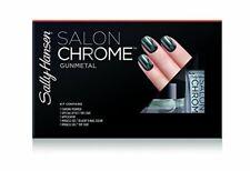 Sally Hansen Lim Ed Salon Chrome 5PC Kit Miracle Gel Nail Polish Gunmetal