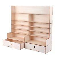 Wood Paint Rack Shelf Pigment Ink Bottles Organizer Storage Stand Holder wi U9J4