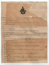 1910s BARNARD COLLEGE Class Poem POETRY Stationery COLUMBIA University NEW YORK