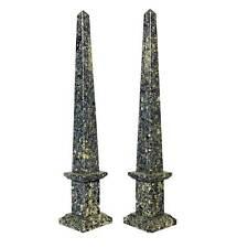 Coppia Obelischi in Quarzite Classic Pair of Old Obelisks Home Design H30cm