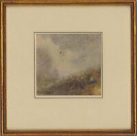 Mid 20th Century Watercolour - Misty Mountain Top