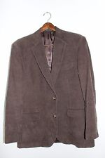 Mens Size 42L~DOCKERS~Brown~Corduory~Blazer/Sport Coat~2 Button~Classic~Handsome