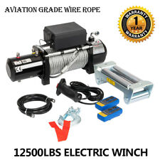 12500lbs 12V Electric Recovery Winch Truck SUV Durable Remote Control 4WD New