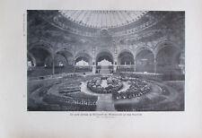 1900 Der Festsaal in Mittelpunkt der Maschinenhalle auf dem Marsfelde - Druck
