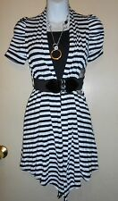 Sequin Hearts Girls 2 fer Dress + Belt + Necklace Black & White Eight (8) NWT