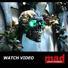Cabeza De Zombie Animados Colgante cortado decoración de Halloween Calavera Esqueleto En Movimiento