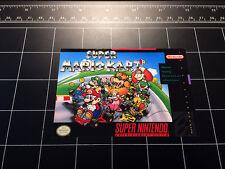 Super Mario Kart SNES box art retro video game vinyl decal sticker nintendo 90s