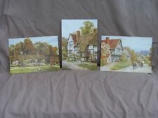 Collection Of 3 SALMON STUDIO SUPERVIEW Post Cards. A.R. Quinton. Rural England.