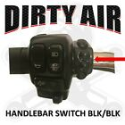 DIRTY AIR Harley Davidson Handlebar Switch air ride BLACK housing BLACK buttons