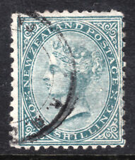 NEW ZEALAND #56 1sh GREEN, 1874 Wmk.62, PERF12, F, CDS