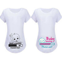 Women Maternity Summer Short Sleeve Tops Cute Baby Tee Shirt Pregnancy Blouse CR